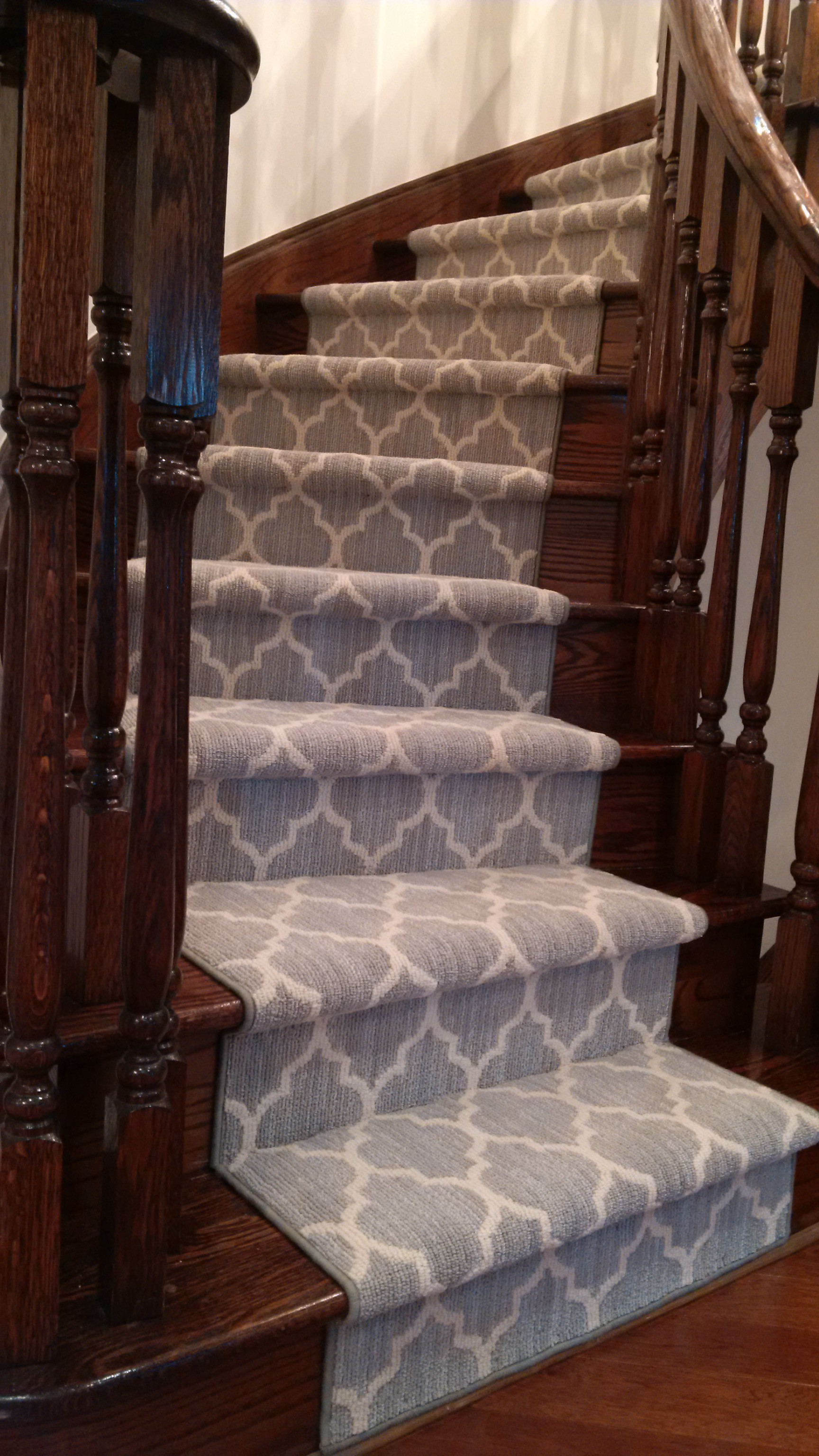 ... Geopmetric Carpet Runner · Grey Carept Runner For Curved Staircase ...