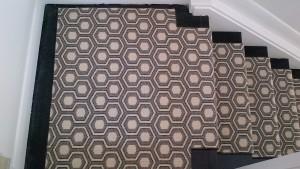 Hexagon design carpet style for stairscase runner