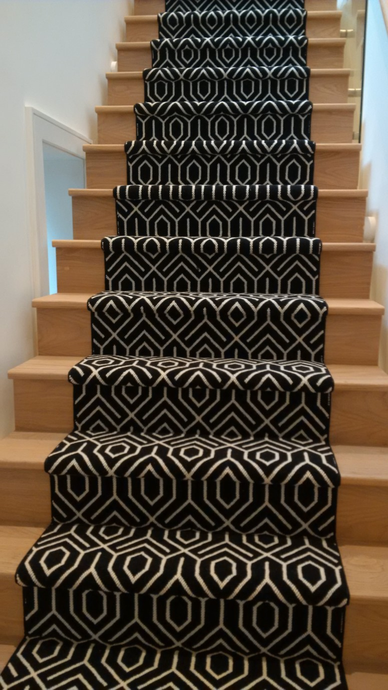 Geometric stair runner love your stairs for Runners carpets and rugs