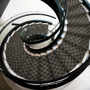 STAIR RUNNER Carpet for curved stairs