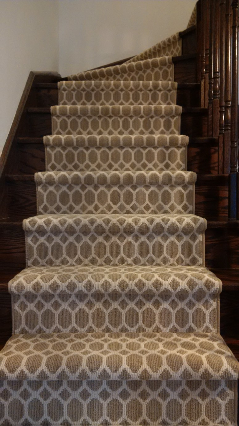 Tracery Carpet runner for stairs design Toronto