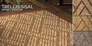 Trellis Sisal rug for Stair runner carpet