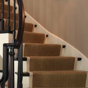 sisal carpet runner for curved stairs