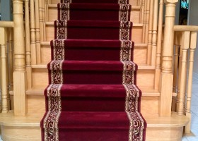 stair carpet runner in red
