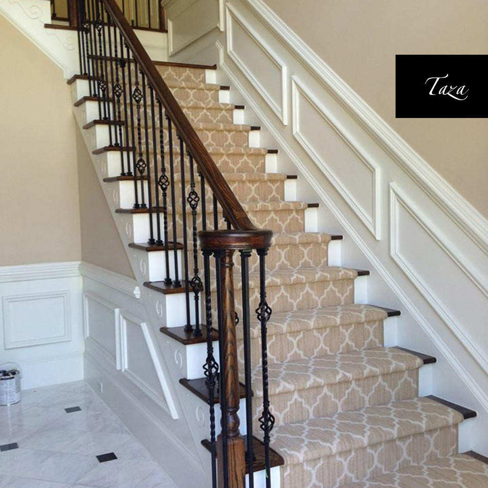 Carpet Runners For Stairs Stair Runner Toronto Tuftex_Taza_Staircase_Carpet Runner  Installation ...