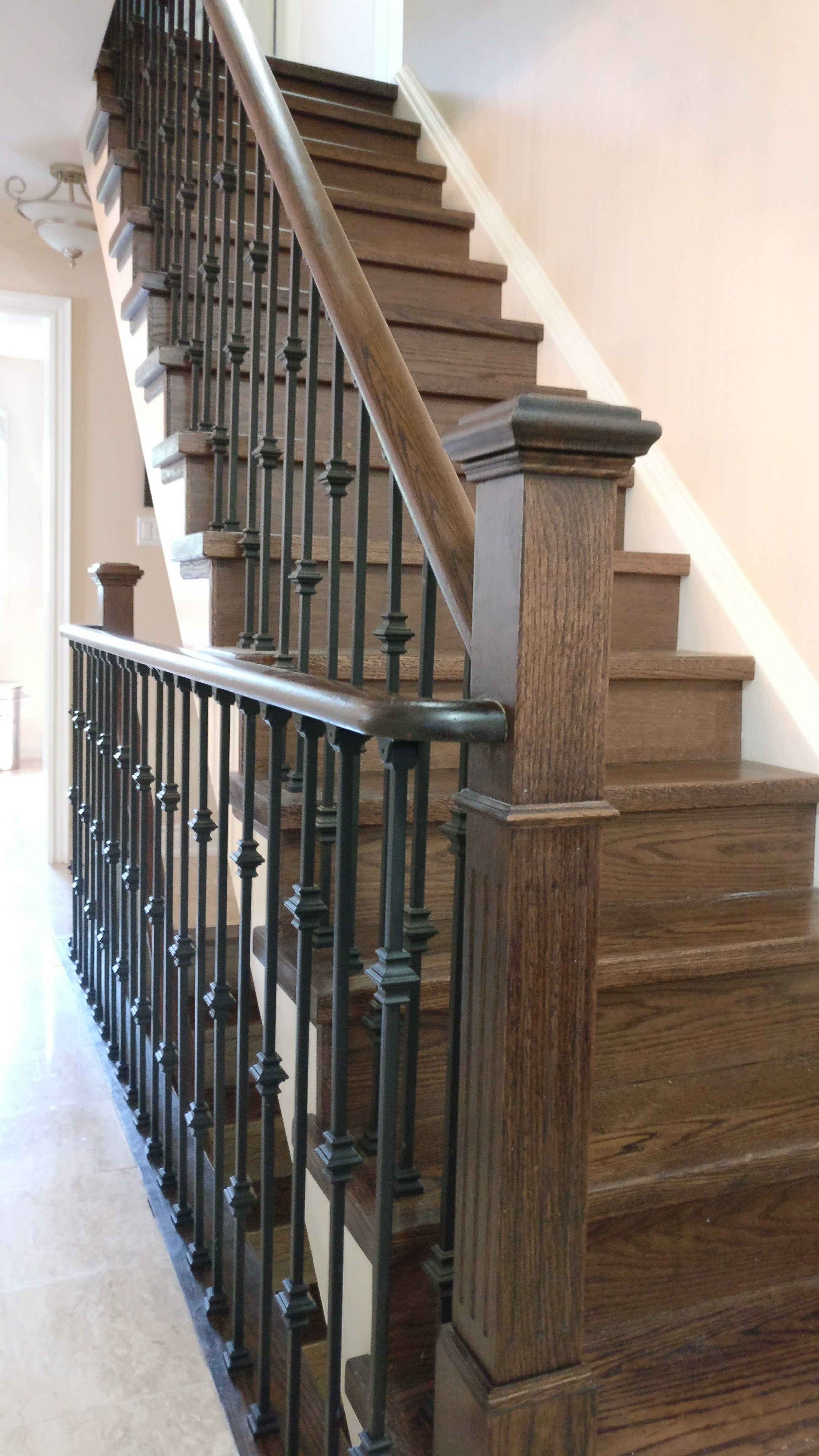 Refinish Stairs Install New Handrail Love Your Stairs
